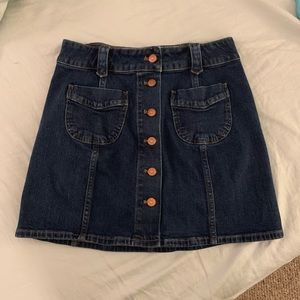 Like NEW Madewell Jean Skirt Copper Buttons SMALL